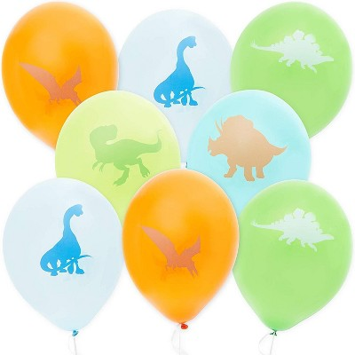 X20 NEWEST Clear Dinosaur Cute Dino Latex Balloons Print Assorted Birthday Party