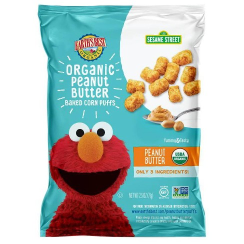 Earth's Best Organic Sesame Street Peanut Butter Puffs - 2.5oz - image 1 of 4