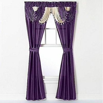 GoodGram Amore Complete 5 Piece Window in a Bag Curtain Set