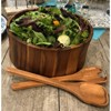 Kalmar Home Extra Large Acacia Wood Salad Bowl with 2 Serving Utensils, Brown - image 3 of 3