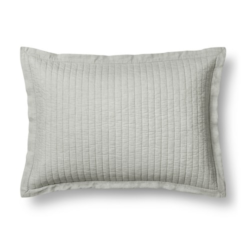 Fieldcrest Blue Pick Stitch Pillow Sham  Standard