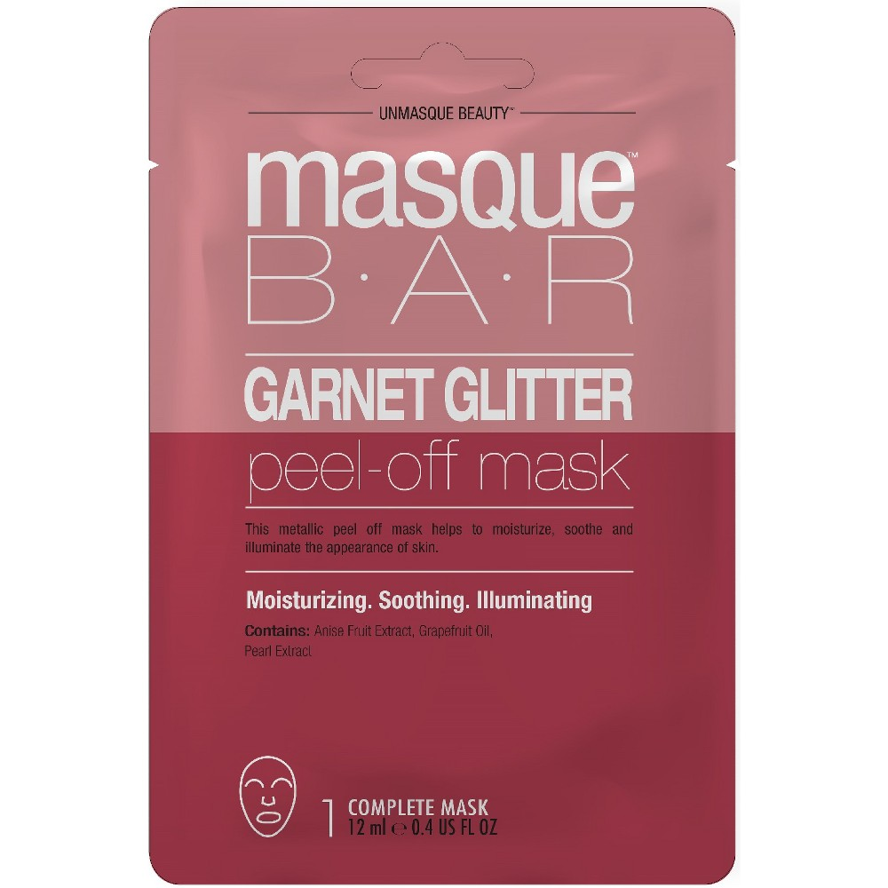 Masque Bar Garnet Glitter Peel Off Mask Facial Treatments - .71 fl oz