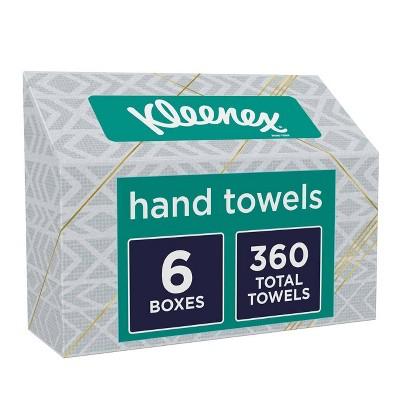 Kleenex Disposable Hand Towels Single Sheet Paper Towels - White - 6pk/60ct