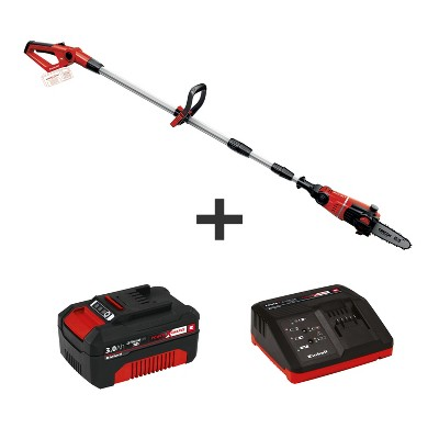 Einhell GE-LC Power X-Change 18-Volt Cordless 8-Inch Telescoping Pole Chain Saw, Kit (w/ 3.0-Ah Battery + Fast Charger)