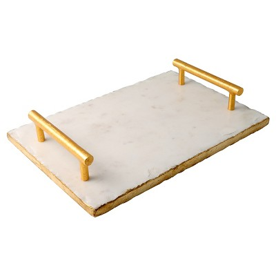 Thirstystone Marble Serving Tray with Handle - Gold