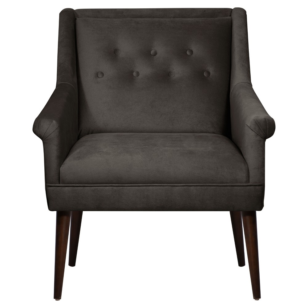Button Tufted Chair In Mystere Cosmic Skyline Furniture