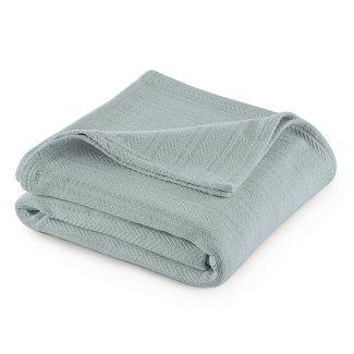 Full/Queen Cotton Bed Blanket Gray Mist - Vellux