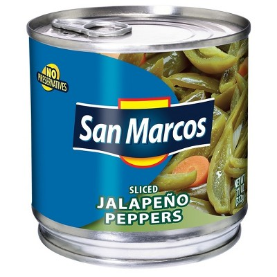 San Marcos Sliced Jalapenos - 11oz