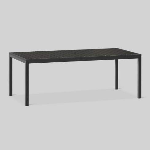 Bryant 6 Person Faux Wood Patio Dining Table Black Project 62 Target