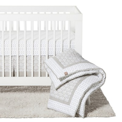 Trend Lab 3pc Crib Bedding Set - Gray Art Deco