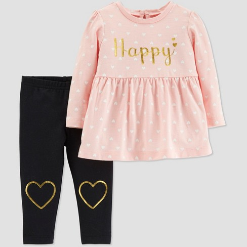 4802af3175 Toddler Girls' 2pc Heart Set - Just One You® made by carter's Pink 5T