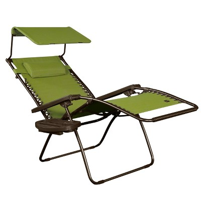 Superieur Bliss Hammocks GFC 450WSG 30 Inch Zero Gravity Chair With Canopy And Tray,  Green