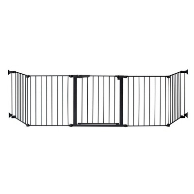 """KidCo Auto Close Configure Baby Gate with Two 24"""" Extensions (Total width up to 128"""")- Black"""