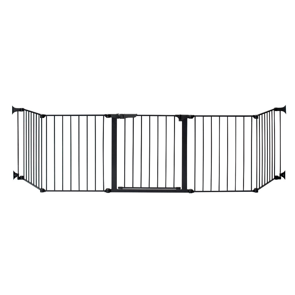 "Image of ""KidCo Auto Close Configure Baby Gate with Two 24"""" Extensions (Total width up to 128"""") - Black"""