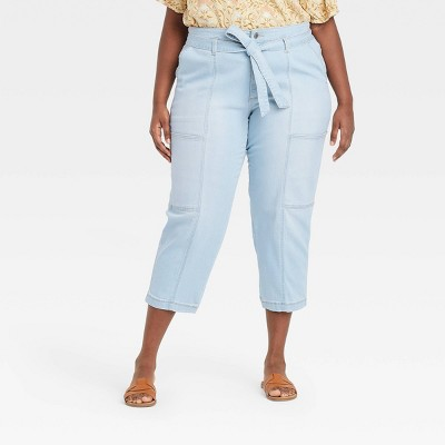 Women's High-Rise Taper Jeans - Universal Thread™ Light Blue