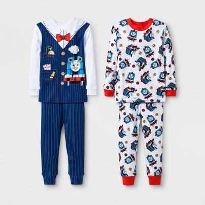 Toddler Boys' Thomas & Friends 4pc Pajama Set - Navy 3T