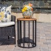 """Canary 15"""" Acacia Side Table - Antique - Christopher Knight Home - image 2 of 4"""