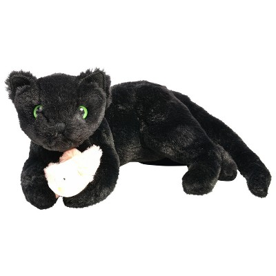 Manhattan Toy Ninja Kitty Stuffed Animal Cat with Magnetic Front Paws and Magnetic Bird Toy
