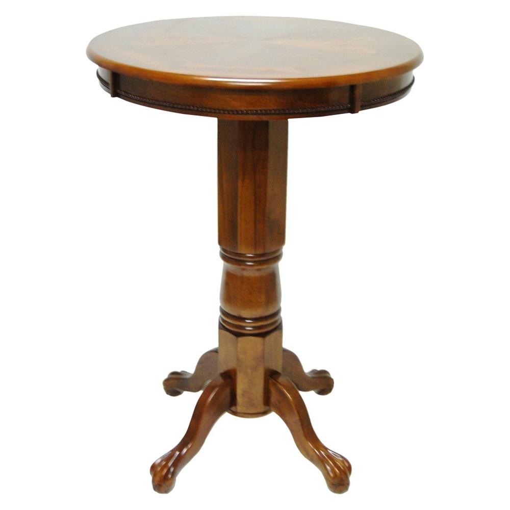 Florence Pub Table Wood/Walnut (Brown) - Boraam