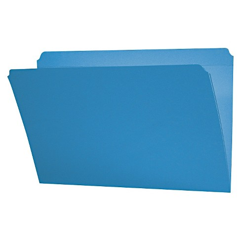Smead® File Folders, Straight Cut, Reinforced Top Tab, Legal, Blue, 100/Box - image 1 of 1