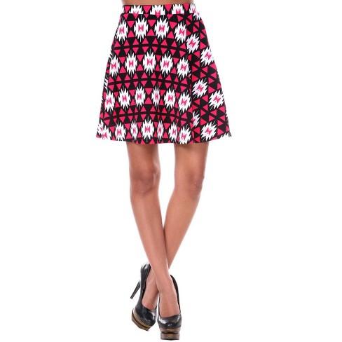 Women's Triangles Heidi Flare Skirt - White Mark - image 1 of 3