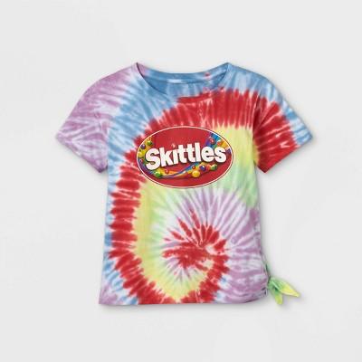 Girls' Skittles Rainbow Short Sleeve Graphic T-Shirt