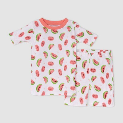 Burt's Bees Baby® Toddler Girls' Watermelon Pajama Set - Pink
