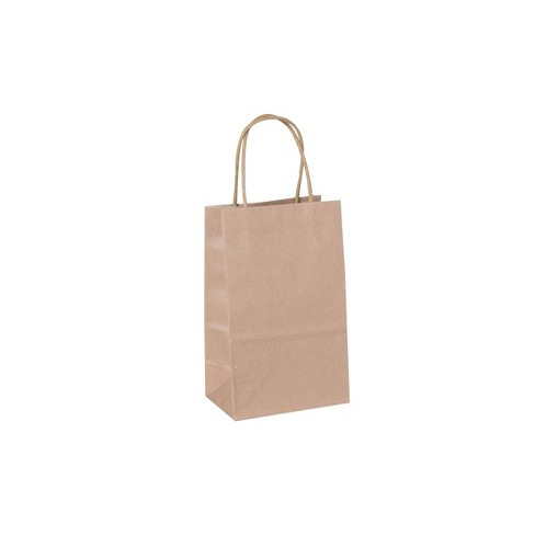 XSmall Solid Natural with White Polka Dots Gift Bag - Spritz™ - image 1 of 1
