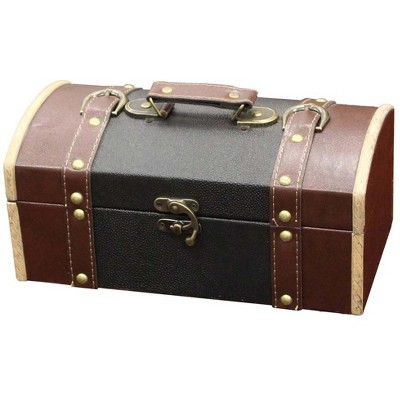 Vintiquewise Dresser Valet Leather Chest with Fabric Lining