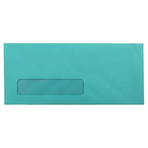 "JAM Paper® #10 Window Brite Hue Envelopes, 4.125"" x 9.5"", 50 per pack - image 1 of 2"