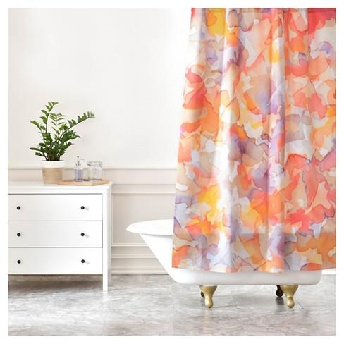 Jacqueline Maldonado Flutter Shower Curtain Pumpkin
