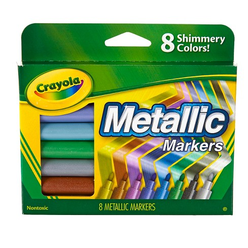 Crayola® Metallic Markers 8ct - image 1 of 4