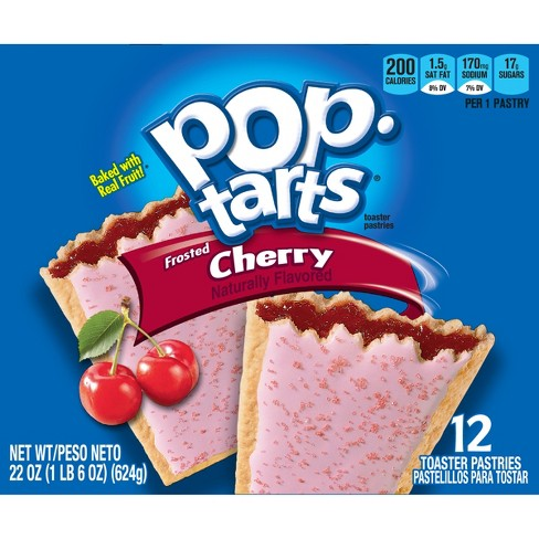 Pop-Tarts Frosted Cherry Pastries - 12ct/20.31oz - Kellogg's - image 1 of 4