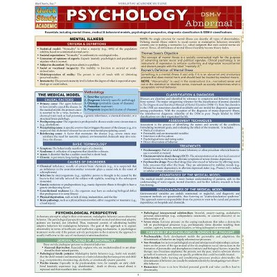 Psychology: Abnormal - (Quick Study: Academic) by  Barcharts Inc (Poster)