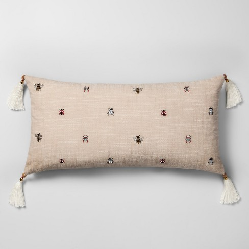 Swell Beaded Bug Oversize Lumbar Throw Pillow Neutral Opalhouse Squirreltailoven Fun Painted Chair Ideas Images Squirreltailovenorg