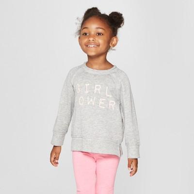 Grayson Mini Toddler Girls' Slit Long Sleeve Sweatshirt - Gray 18M