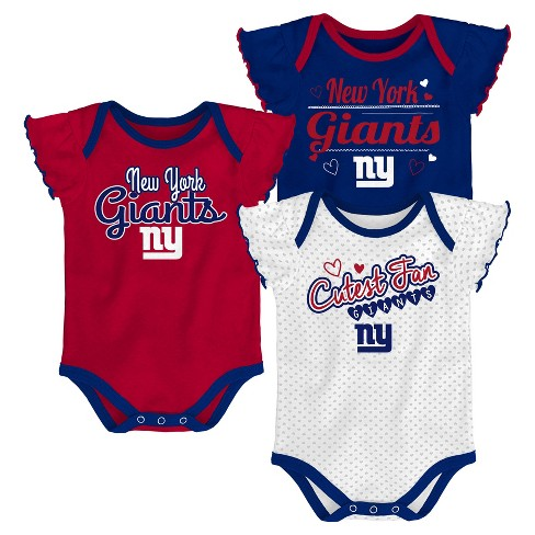 79b80fa5 New York Giants Girls' Newest Fan 3pk Bodysuit Set 12 M