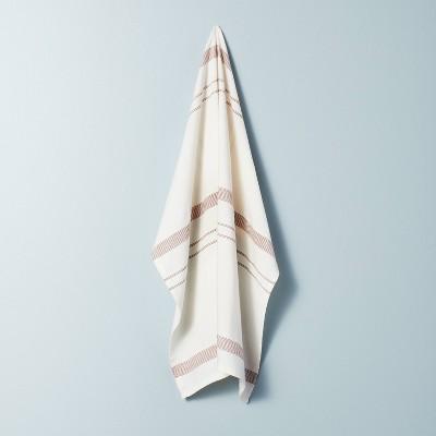 Bunch Stripes Flour Sack Kitchen Towel Pumpkin Brown - Hearth & Hand™ with Magnolia