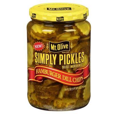 Mt. Olive Simply Pickles Hamburger Dill Chips - 24 fl oz