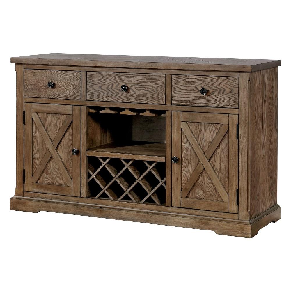 Iohomes Jellison Transitional Buffet Table Light Oak - Homes: Inside + Out