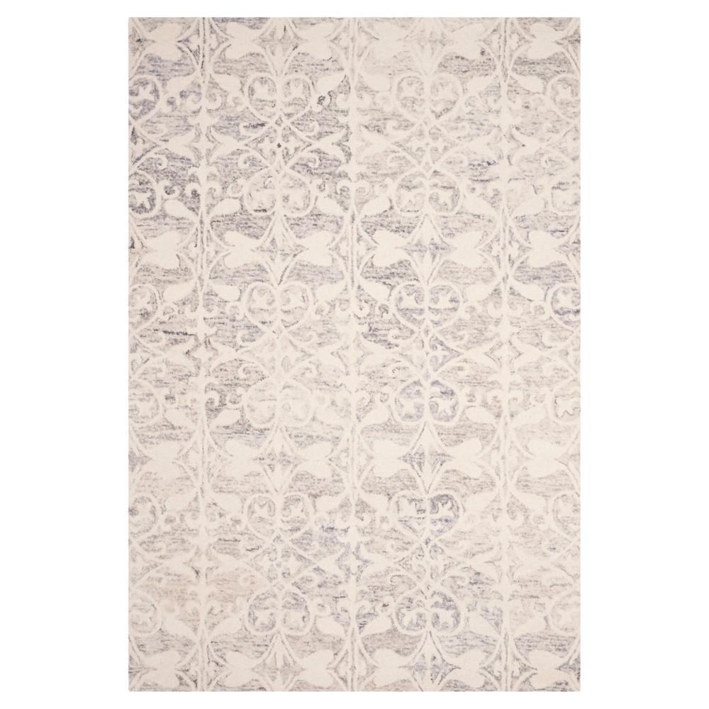 Light Gray/Ivory Shapes Tufted Area Rug 6'X9' - Safavieh