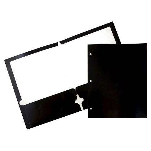 JAM Paper® Glossy 3 Hole Punch Folders, 6pk - image 1 of 5