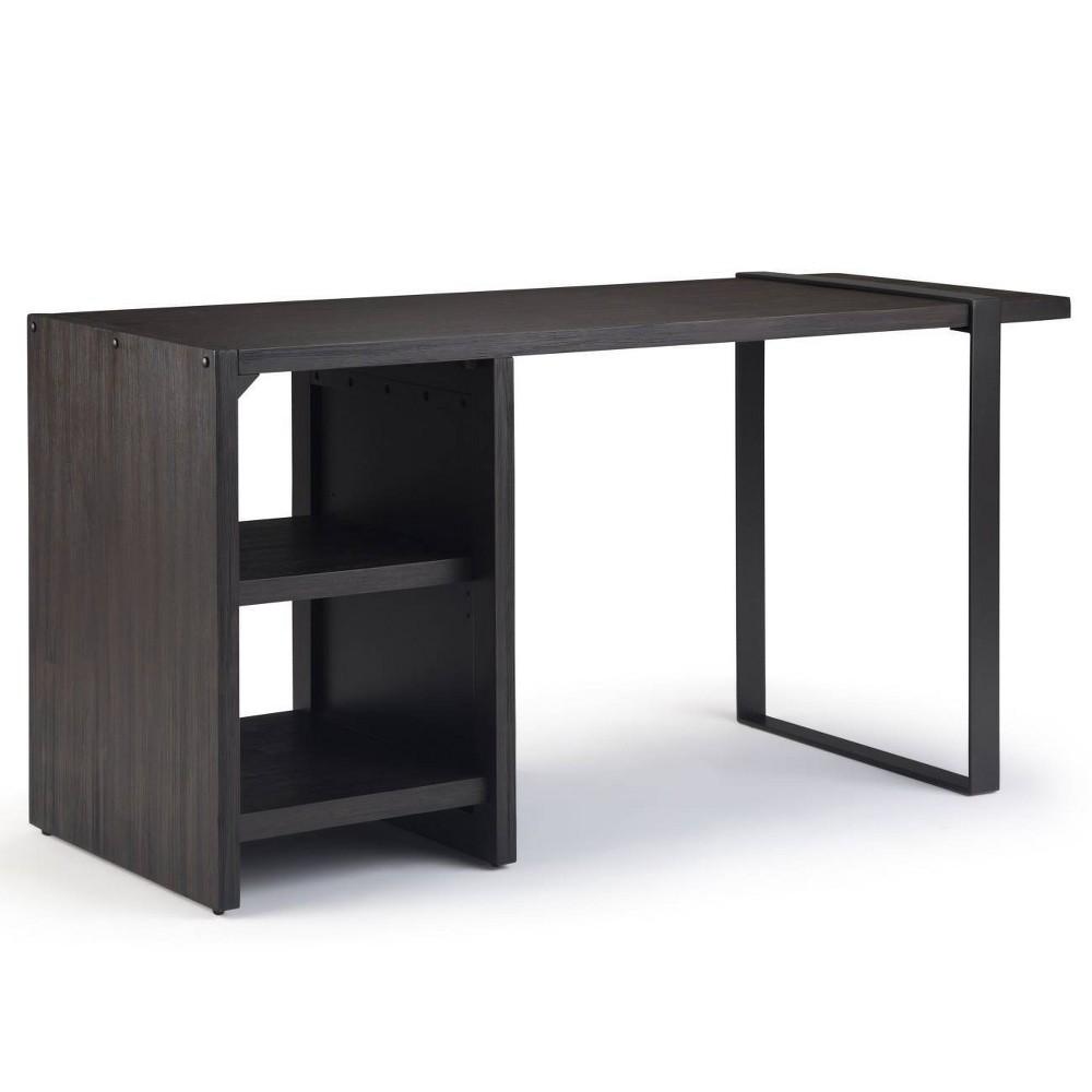 Franz Desk with Storage Distressed Dark Brown - Wyndenhall