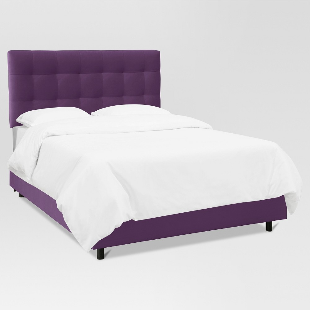 Siegel Twin Pull Tufted Bed Velvet Aubergine - Project 62