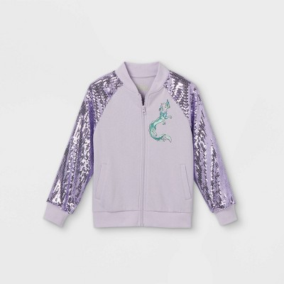 Girls' Disney Raya Bomber Jacket - Purple
