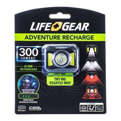 Life Gear Adventure Rechargeable 300 Lumens LED Headlamp