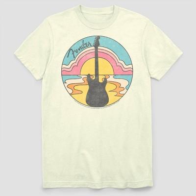 Men's Fender Sunset Short Sleeve Graphic Crewneck T-Shirt - White