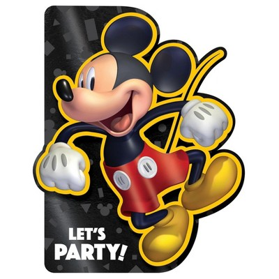 Birthday Express Mickey Mouse Forever Foil Invitations - 8 Pack