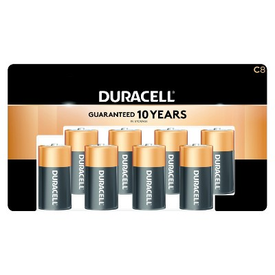 Duracell Coppertop C Batteries - 8ct