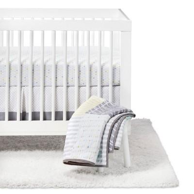 Crib Bedding Set Geo Patchwork 4pc - Cloud Island™ - Light Blue